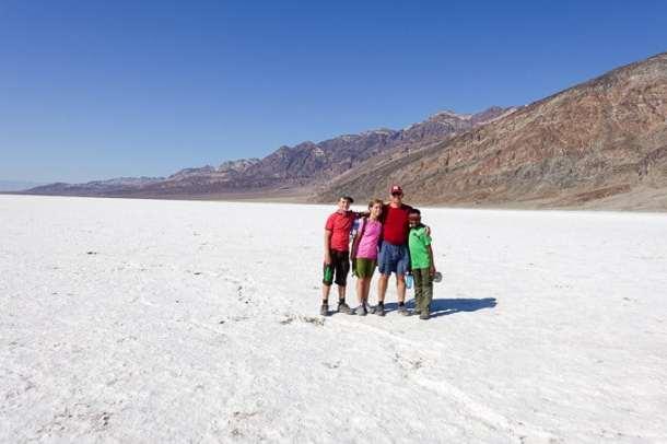 Salt flats of Badwater Basin