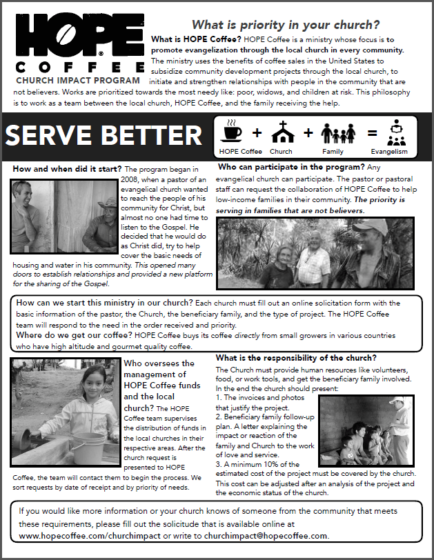 HOPE Coffee Church Ministry Impact