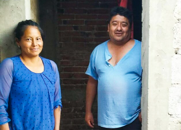 (March) Puebla, Mexico-- Pastor Enrique Gonzalez at Centro Cristiano Philadelphia No 10 partnered with HOPE Coffee to construct a bathroom for Sergio, Grindelia and their three children. After seeing Christ's love in action, the family decided to attend church for the first time!