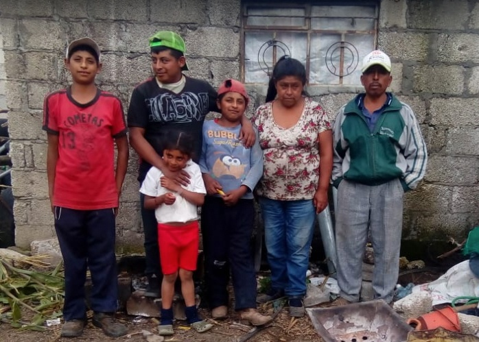 (December) Puebla, Mexico-- A local church, Dios es Amor along with their pastor Ángel Contreras, partnered with HOPE Coffee to provide Raymundo, his wife and six kids with a bathroom of their very own! They're now very open to relationships with Christians and to the good news of Jesus!
