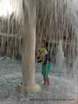 Boy Wonder at waterpark