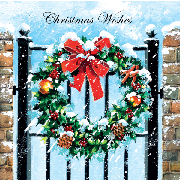 Christm as Wreath Card from for Mobile Chemotherapy unit Charity