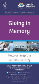 Image for 'Giving in Memory' leaflet