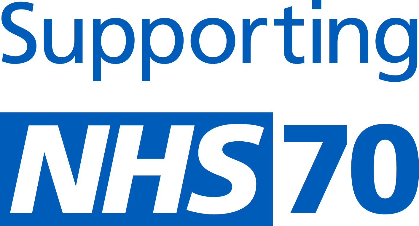 NHS 70 Supporting Logo