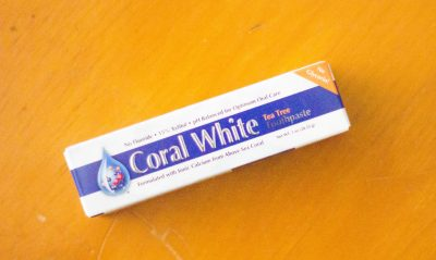 Coral white toothpaste from the Daily Goodie Box
