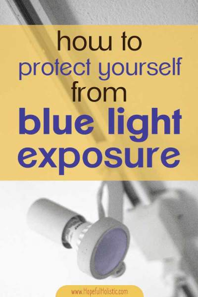 Lighting fixture with text overlay - how to protect yourself from blue light exposure