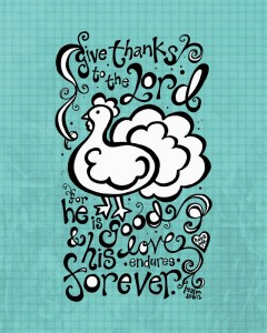 Thanksgiving Printable Coloring Sheet