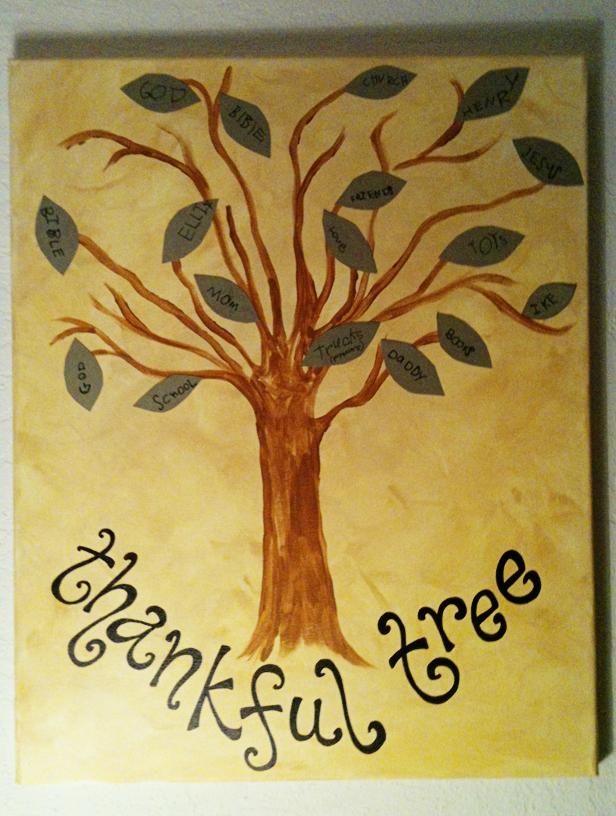 Thanksgiving Thankful Tree Canvas