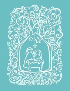 Free Christmas Coloring Printable Nativity Scripture Art Hope Ink