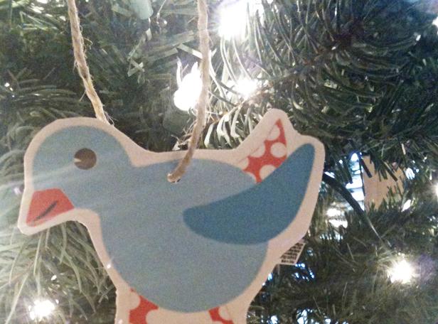 printable christmas bird ornaments