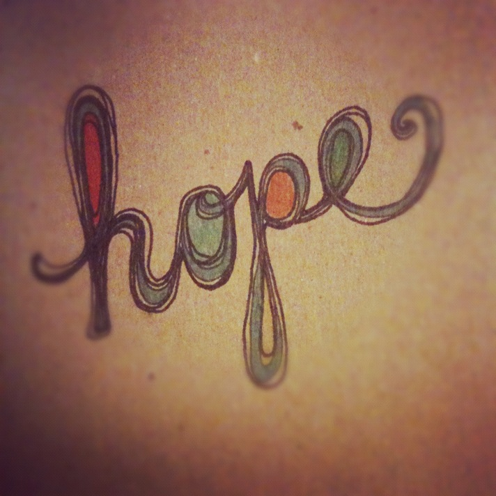 Hope Ink Hand Drawn Text Illustration