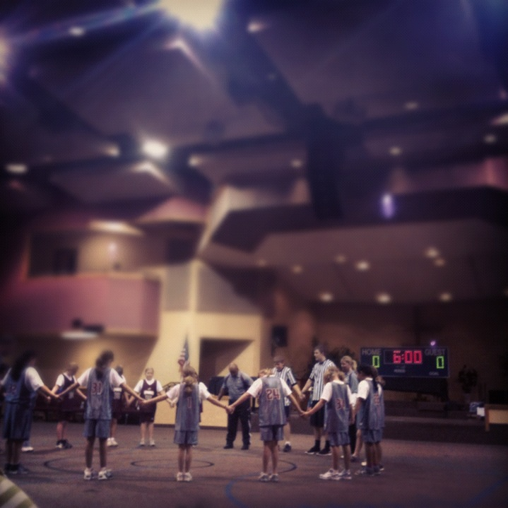 Basketball Prayer Huddle