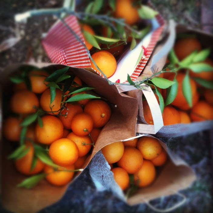 Bags of California Oranges