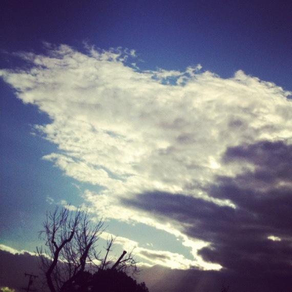 Cloudy Bright Blue Sky
