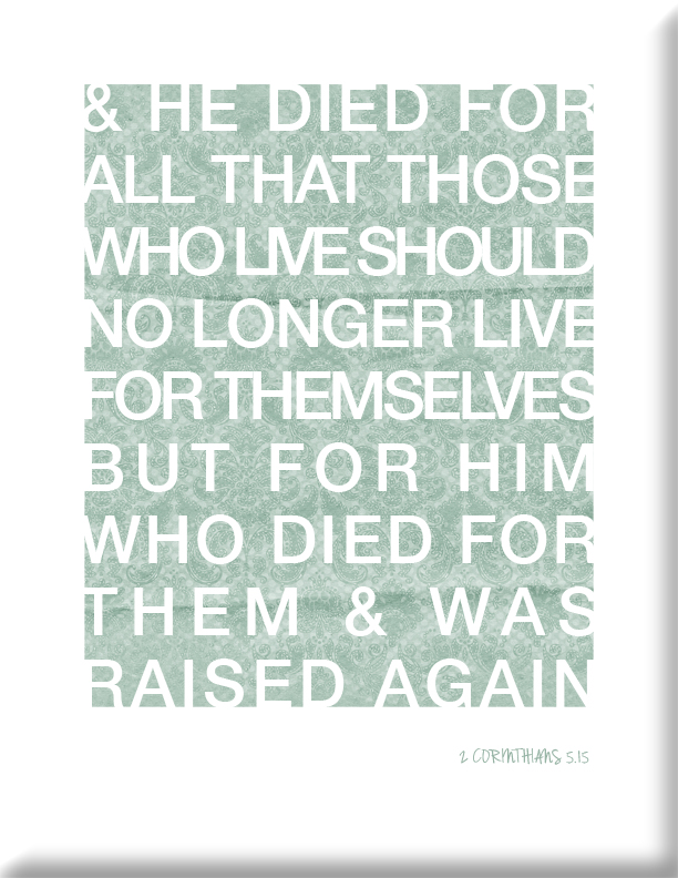 Easter Bible Verse Typography