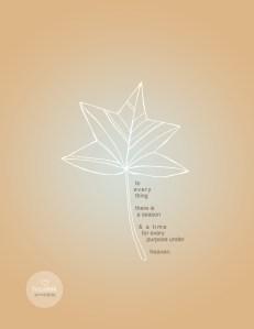 Seasons Fall Leaf Art Printable