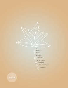 Seasons Fall Leaf Art Printable
