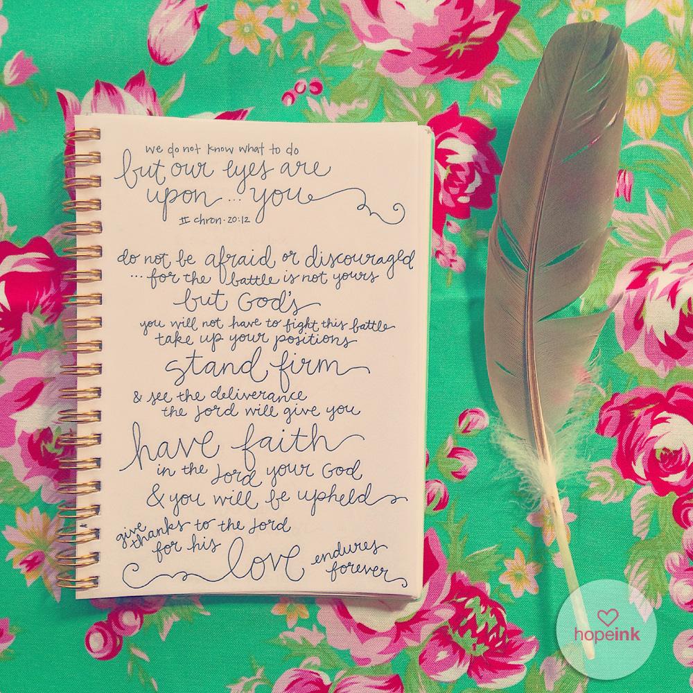 Scripture Art Lettering Floral Feather