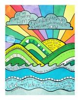 scripture art print thanksgiving rainbow