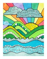 scripture art print thanksgiving rainbow
