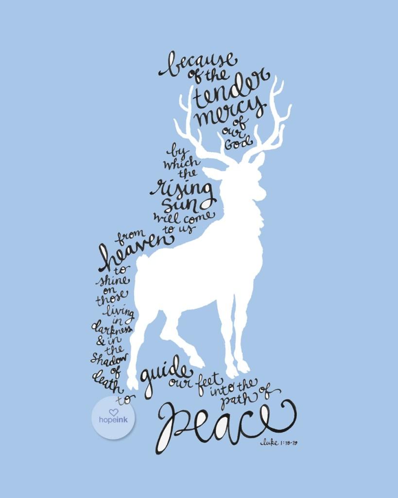 Deer Christmas Scripture Art
