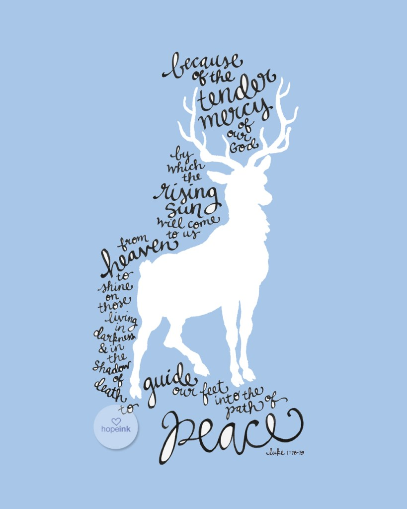 Deer Christmas Scripture Art