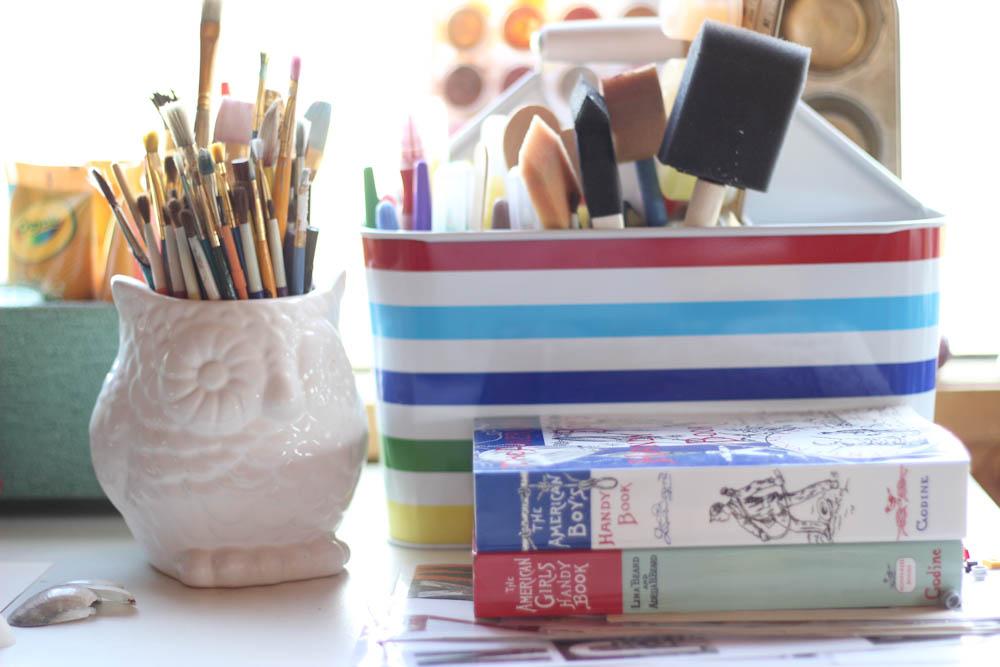 paintbrushes owl