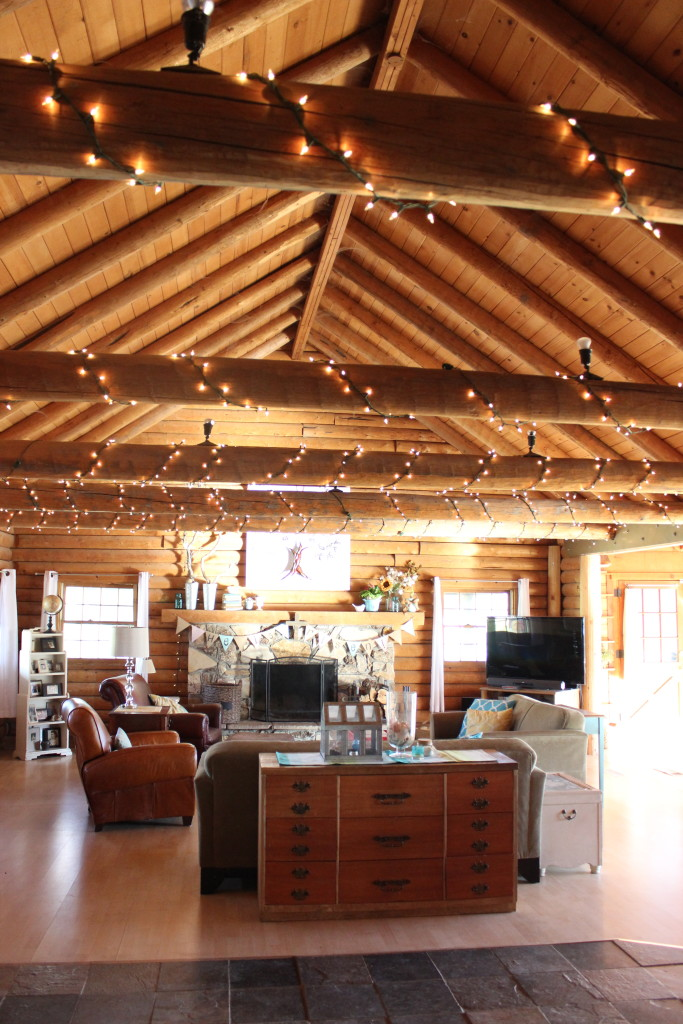 log cabin ceiling