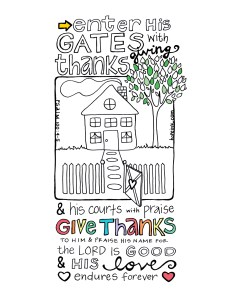 Thanksgiving Coloring Page Printable