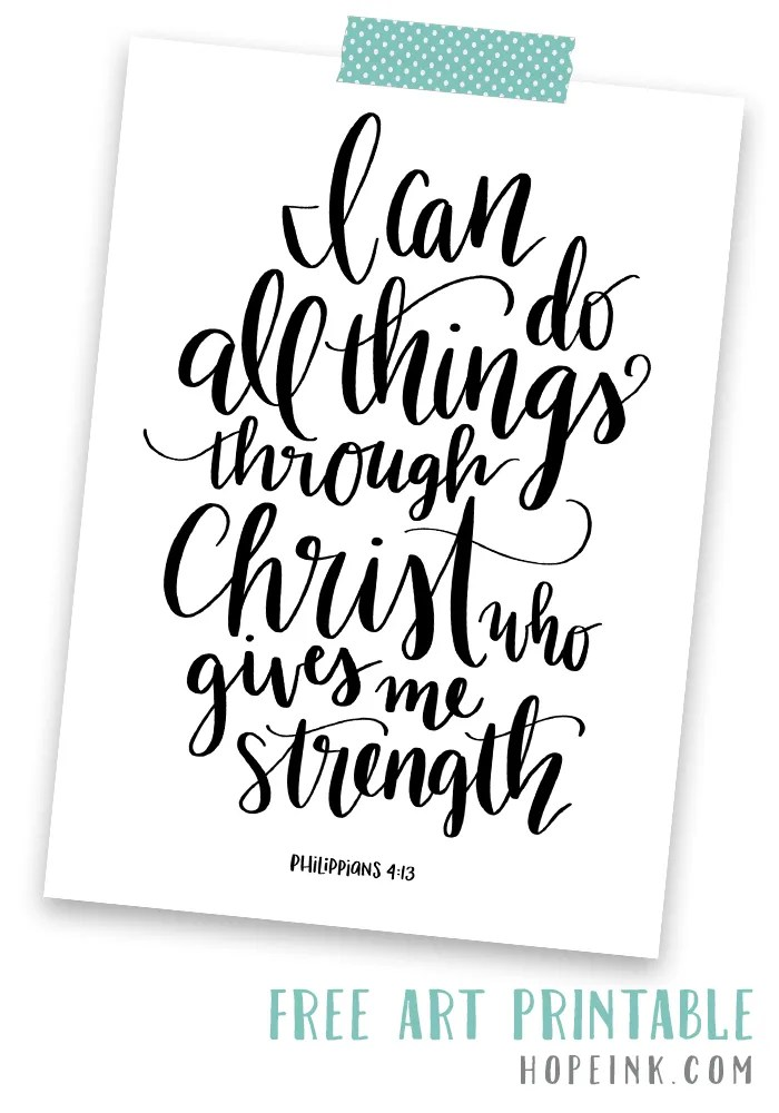 Free Scripture Art Printable | Hope Ink