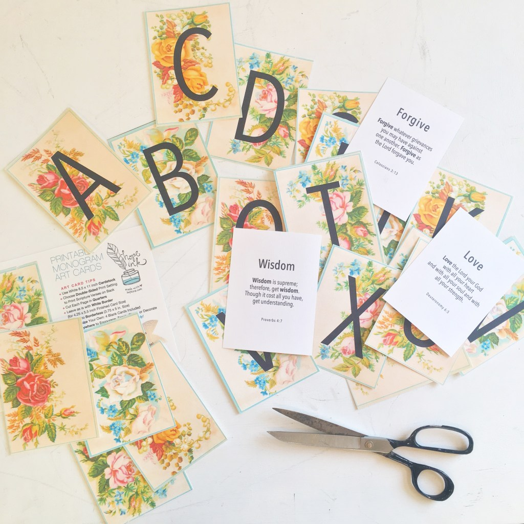 Alphabet Scripture Cards | Hope Ink