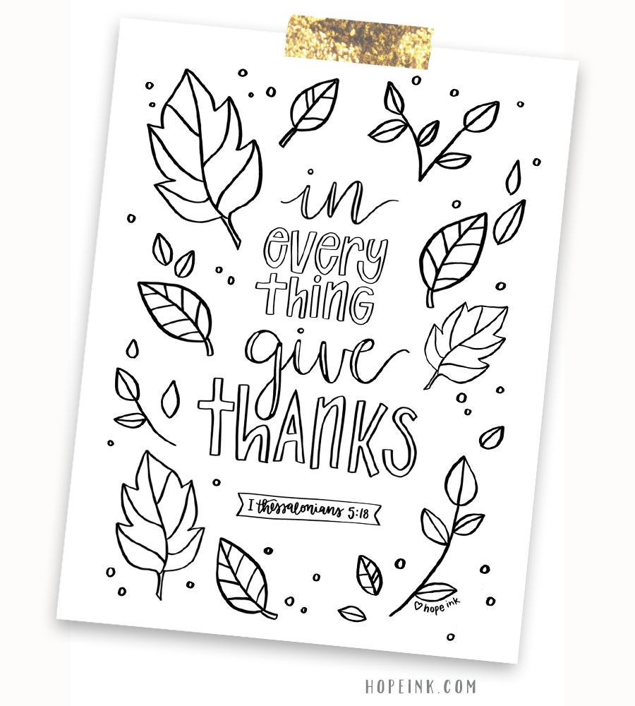 Thank You Coloring Page Pdf