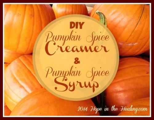 DIY Pumpkin Spice Creamer