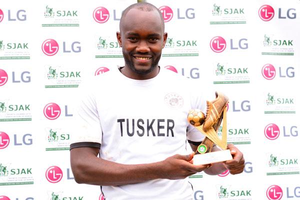 Tusker Striker Otieno leads KPL Top scorers race
