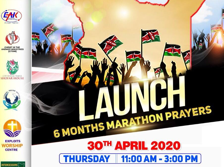 kenya church response prayer conducts online prayers for the nation