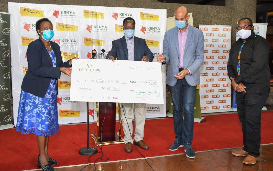 KTDA DONATES KSHS 20 MILLION TO COVID-19 FUND