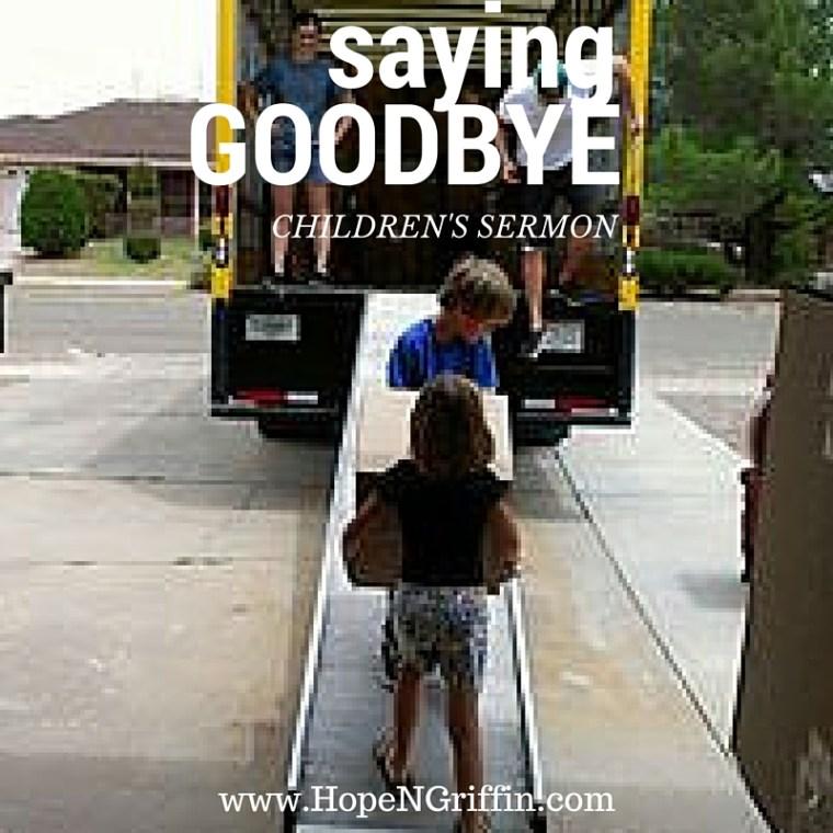 saying goodbye children's sermon Acts 15