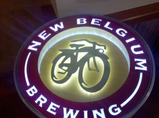 Table at New Belgium