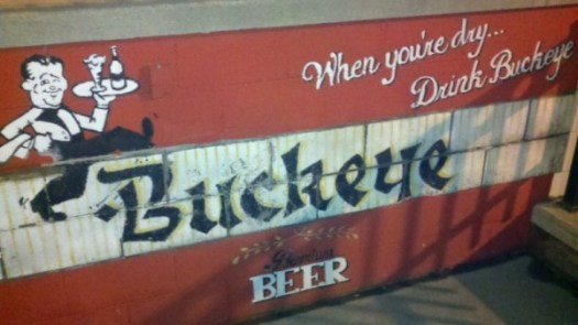 Buckeye Beer Label Mural at Maumee Bay Brewing Company