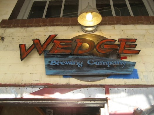 Wedge Brewing Co. Sign