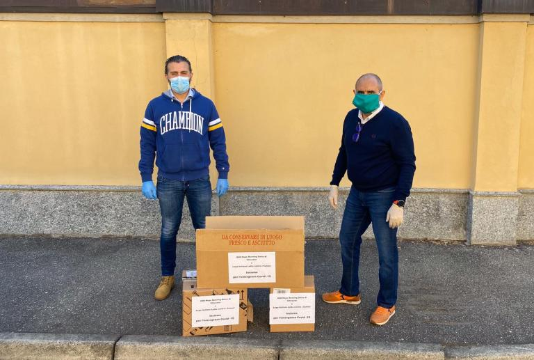 Giovanni Mirabella Presidente ASD Hope Running Onlus e Giuseppe Rampulla LILT Collina
