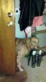 Abigail at the door