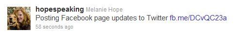 Hope Speaking Twitter post