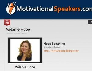 MotivationalSpeakers.com feature