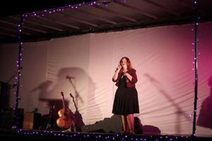 Singing at the Purple Light Nights