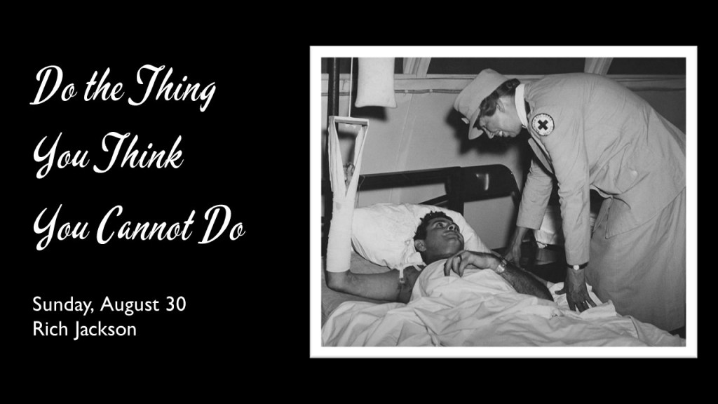 Photo of Eleanor Roosevelt talking to an injured soldier