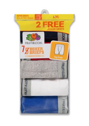 Assorted Boxer Brief, bonus pack, fruit of the loom