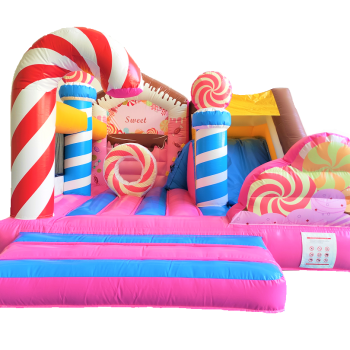 Hüpfburg Candyland von vorne