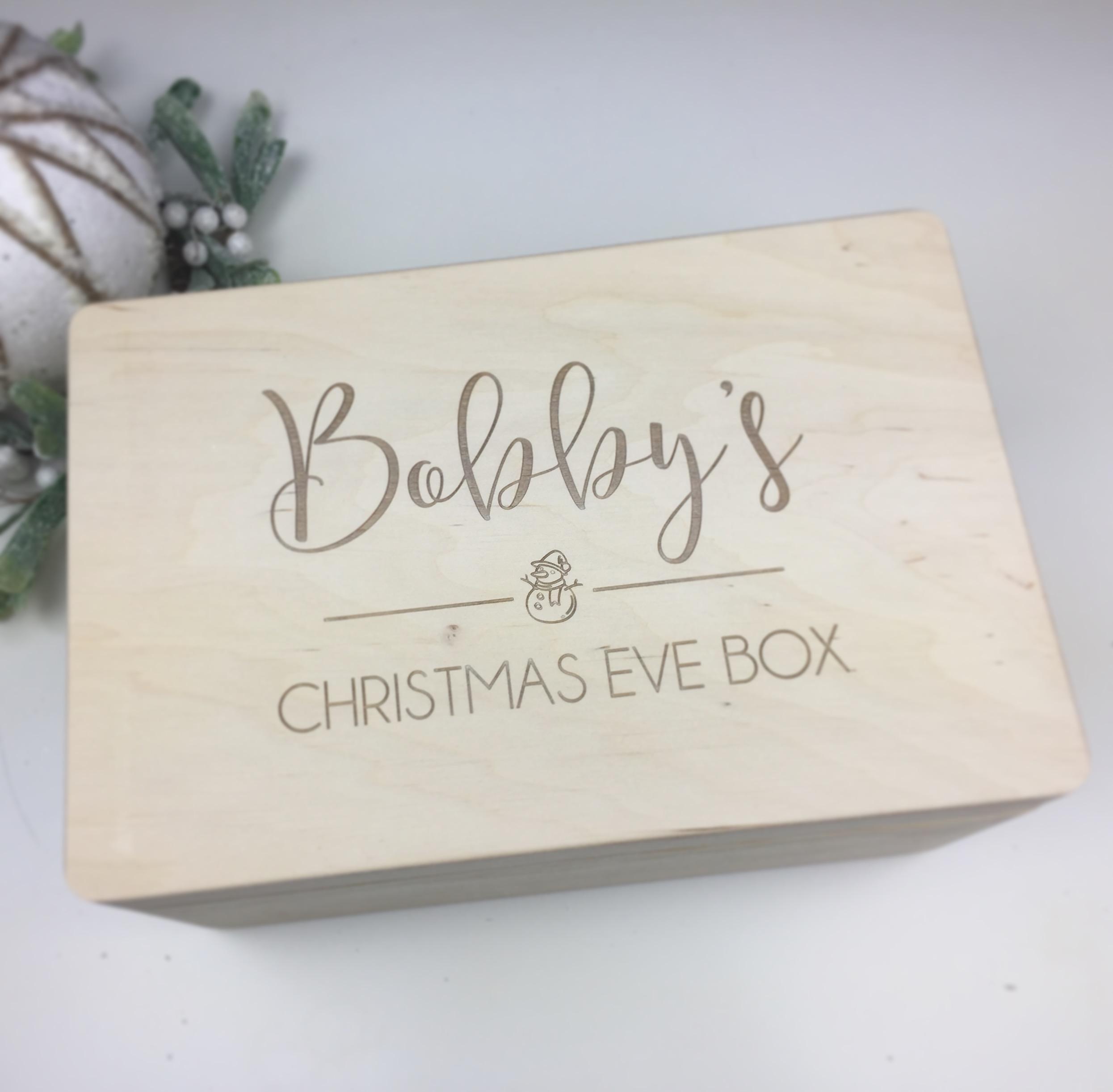 Personalised Christmas Eve Box Hopwood Laser Design