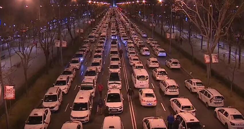 Huelga del taxi en Madrid